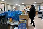 신종 코로나 바이러스 관련 센터 내 방역 진행사진